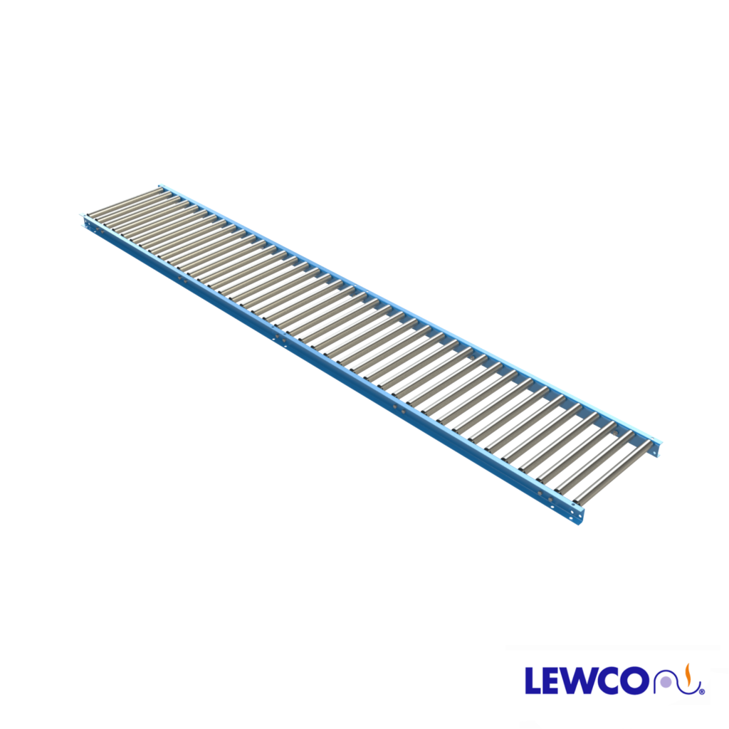 1-3/8 in. Dia. gravity roller conveyor is used to carry lightweight packages. This light duty conveyor easily flows product with minimal slope, and is useful when portability is required.