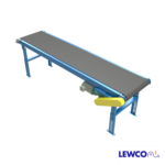 Model 40SB is LEWCO's most economical slider bed belt conveyor. It provides a reliable way of transporting products in assembly, sorting, testing and packaging applications. These slider bed belt conveyors are the most popular of all powered conveyors due to their simple, economical design.