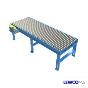 Model BDLR26 is a heavy duty, minimum pressure accumulation conveyor which provides an effective means of accumulating heavier products with minimal back pressure. This conveyor offers the same features of our BDLR25, with the added benefit of rugged, heavy wall rollers.