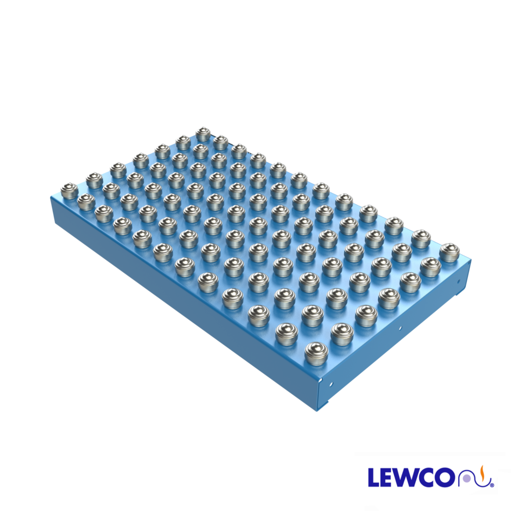 Designed as a free-standing transfer table with smooth edges. Accepts standard LEWCO SPM and SPH series supports.