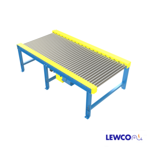 Similar to our standard chain driven live roller conveyor, the CDDB26 offers the additional advantage of closer roll centers. Because all of the rollers are chain driven, the CDDB26 is an excellent choice for conveying loads with challenging footprints. The heavy wall rollers are better suited for impacting and fork truck interface.