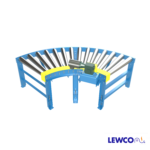 The Model CDTRC is used to help maintain product orientation through a curve in the conveyor line. Tapered shells can accommodate a wide range of standard and custom radiuses, and can interface with our CDLR19, CDLR25, & CDLR26 models.
