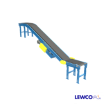 Model FTFRB is a roller bed, inclined belt conveyor used to transport product up or down at angles up to 30 degrees. Due to the heavy bed section, it is often used in industrial applications and therefore capable of moving heavier loads with less power.