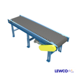 Model HDRB25 is a heavy duty roller bed belt conveyor intended for the most extreme applications. The robust combination of belt over heavy duty rollers is ideal in moving heavy loads not conveyable on other types of heavy duty live roller conveyor.