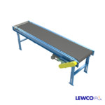 Model MDCS is a medium duty, channel frame slider bed belt conveyor. The channel frame style makes it ideal for mounting sensors and other devices, and mating up with a variety of other style conveyors in system applications.