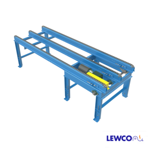 Model MSCCH is a heavy duty version of the multi-strand chain conveyor, still considered a drag chain conveyor however incorporates C80 roller chain and 4 gage welded chain strand construction for extreme applications.