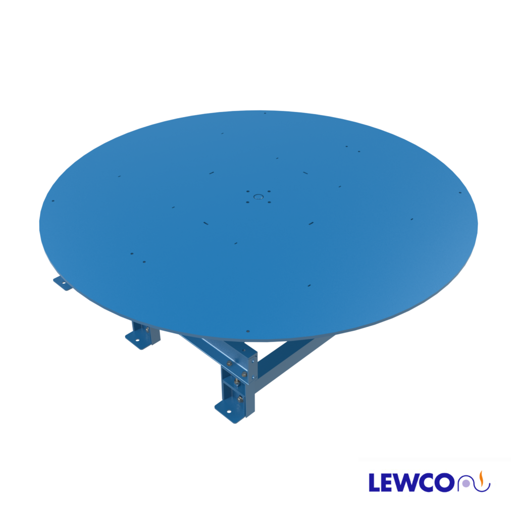 The Model NPT Turntable can be used for loading or unloading pallets, tote pans and boxes. Hand operated, it turns easily to provide convenient access to all sides of the equipment.