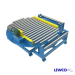 The Model PP90 Turntable features full 90° powered rotation. This unit is ideal for heavy duty applications requiring powered versus manual rotation. The PP90 can be fitted with various styles of powered conveyor such a multi-strand chain or chain driven live roller to convey material on and off of the turntable.