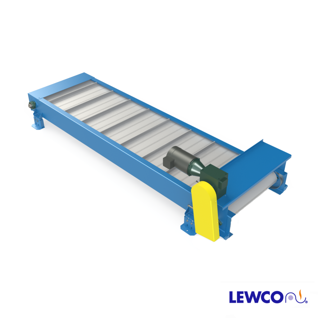 Steel Hinge Belt Conveyors are available in a variety of configurations (Z, L, P, H) and with a variety of incline angles. Designed for heavy duty use, they are typically configured for use in machining or stamping applications for part or scrap removal.