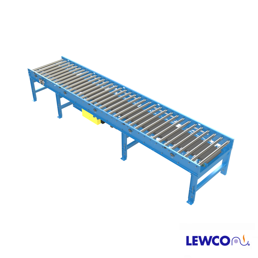 Model ZPLR25 is a heavy duty, zero pressure accumulation conveyor which can provide accumulation of heavier loads with no back pressure. These units come equipped with zone control logic with easy set-up for cascade or slug release modes.