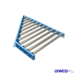1-3/8 in. Dia. Gravity Roller Spurs are used to divert off, or merge on, main trunk line conveyors at various angles. They are often used when several lines transfer onto a main conveyor line, from work stations or similar applications.