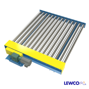 "Chain Driven Live Roller Conveyor with 3-1/2"" Diameter Rollers on Close Centers, 4.875"""