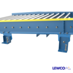 Chain Driven Live Roller Conveyor with Adjustable Top Plate Support for Low Elevation