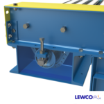 Chain Driven Live Roller Conveyor with Below Frame Mounted Cross Over Roller for Dual Lanes