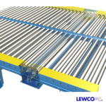 Chain Driven Live Roller Conveyor with Below Frame Mounted Cross Over Roller