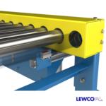Chain Driven Live Roller Conveyor with Bottom Mounted Sensor on Unistrut