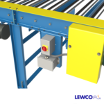Chain Driven Live Roller Conveyor with Combination Motor Disconnect and Junction Box Mounting Bracket
