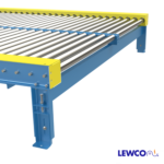 Chain Driven Live Roller Conveyor with Dual Lane Support