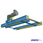 Chain Driven Live Roller Conveyor with Flush Bottom Frame, Dual Lane