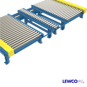 Chain Driven Live Roller Conveyor with Fork Truck Access From Conveyor End