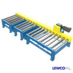 Chain Driven Live Roller Conveyor with Fork Truck Access Through Idler Side