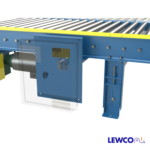 Chain Driven Live Roller Conveyor with Frame Mounted Motor Control Panel