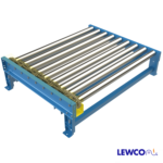 Chain Driven Live Roller Conveyor with Heavy Duty Chain Drive, Series RC80 Chain and Sprockets