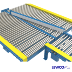 Chain Driven Live Roller Conveyor with Manual Diverter
