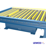 Chain Driven Live Roller Conveyor with Pop-Up Lift Bars Located Between Rollers