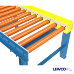 Chain Driven Live Roller Conveyor with UHMW Mounted Along Chainbox and Idler Rail