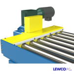 Chain Driven Live Roller Conveyor with UHMW Mounted on Chainbox