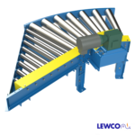 Chain Driven Live Roller Spur Curve Conveyor