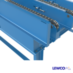 Drag Chain Conveyor with Heavy Duty Welded Guardrail