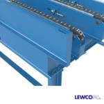 Drag Chain Conveyor with Heavy Duty Welded Guardrail