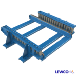 Drag Chain Conveyor with Roller Guardrail