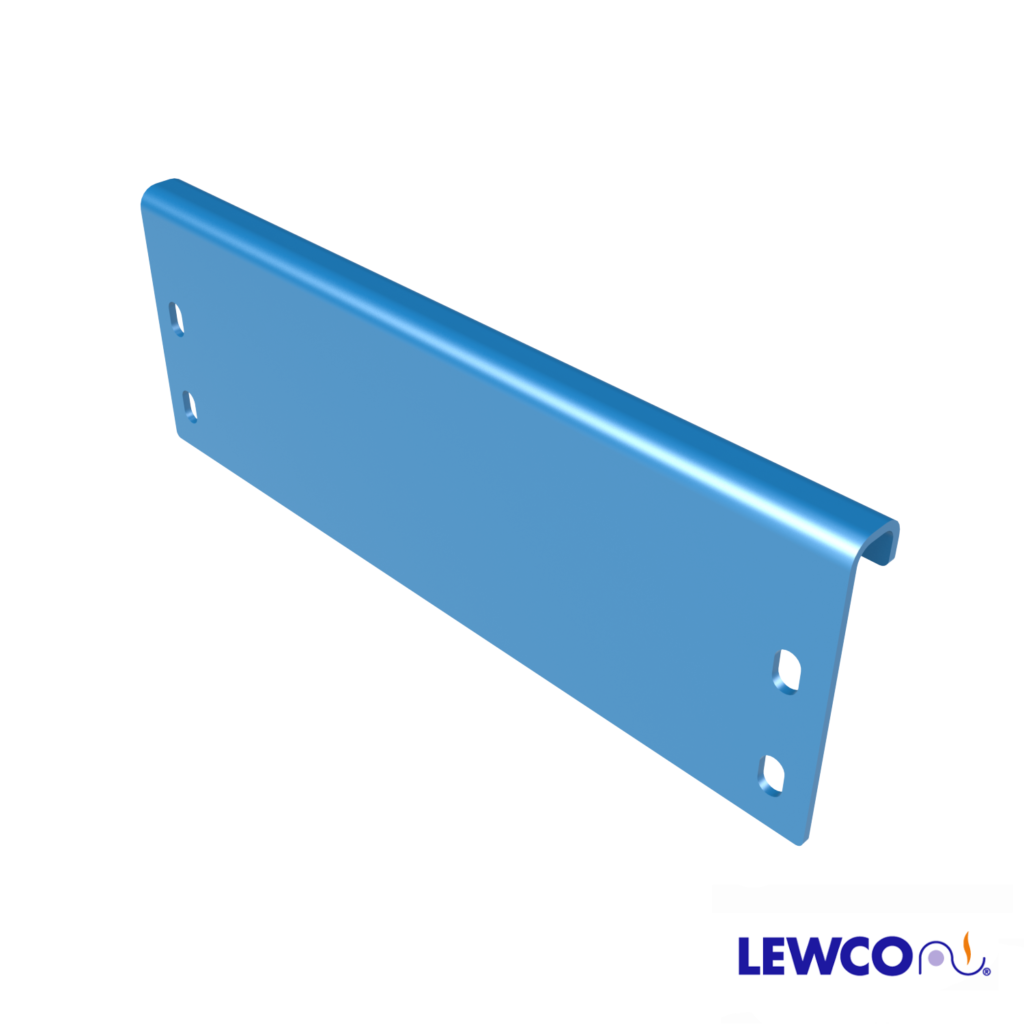 Model ESTOP1 channel end stop can be used to stop product on a gravity conveyor line.