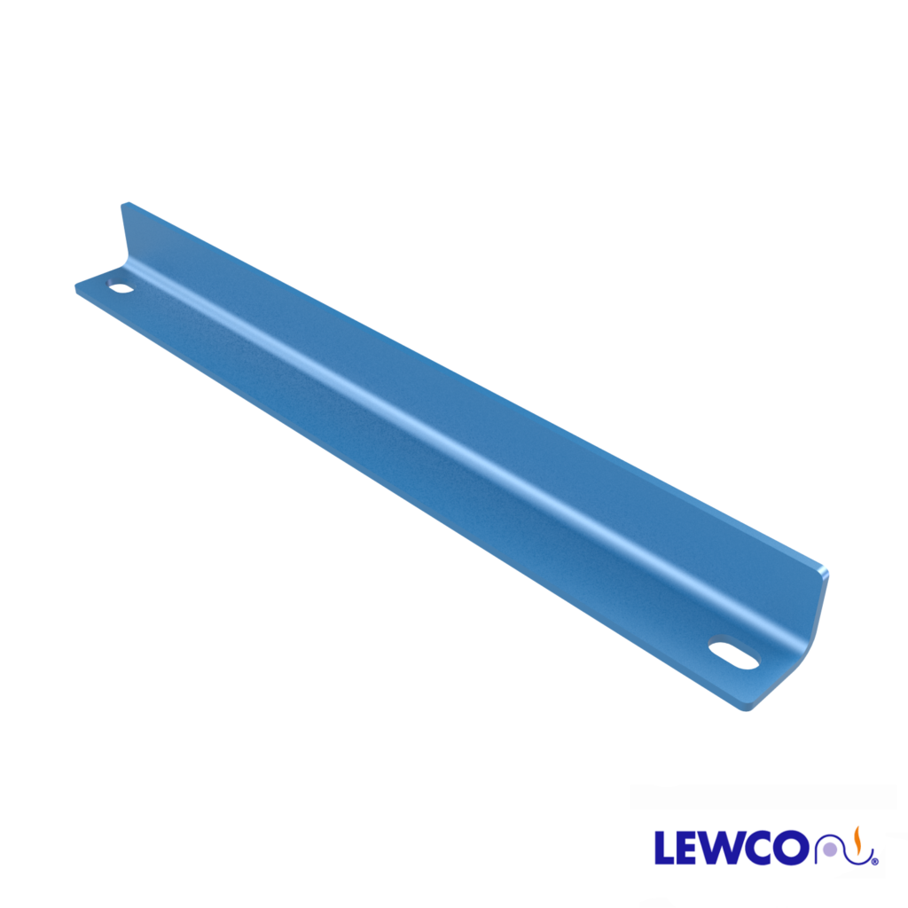 Model ESTOP2 angle end stop can be used to stop product on a gravity conveyor line.