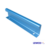 Model GFS08 channel guardrail can be used to guide product on a gravity or powered conveyor line.