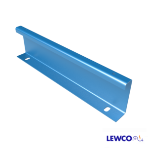 Model GFS12 channel guardrail can be used to guide product on a gravity or powered conveyor line.