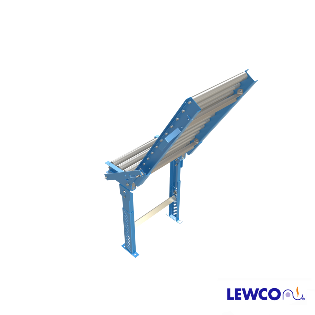 The HG1912 manually operated hinged gate provides convenient, economical passageway for personnel or equipment to either side of a conveyor line.