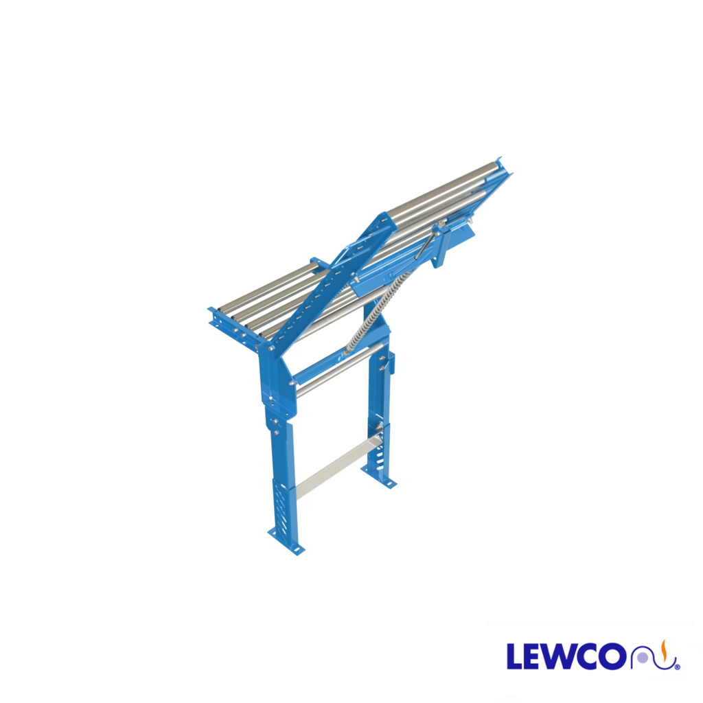 Model HS1418 spring assisted hinged gate provides an opening for convenient access to either side of a conveyor line. Low maintenance design, can be easily adjusted to lift with a minimal amount of effort.