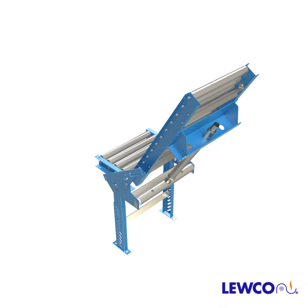 Model HS1916 spring assisted hinged gate provides an opening for convenient access to either side of a conveyor line. Low maintenance design, can be easily adjusted to lift with a minimal amount of effort.