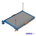 Manual Pivot Gravity Conveyor with Rotation Handles and Foot Operated End Stop