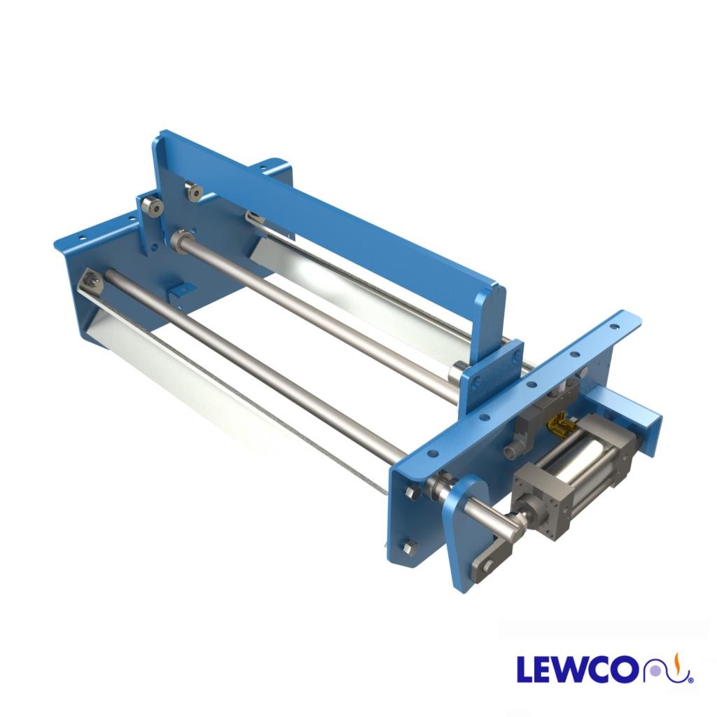 Model PCS19 pneumatic conveyor stop, features a standard 1.9