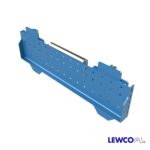 Model PUBS2 pop up blade stop can be used to hold product on a gravity conveyor line prior to a work area. It can also be used with an RB or RBB roller brake as part of an escapement mechanism.