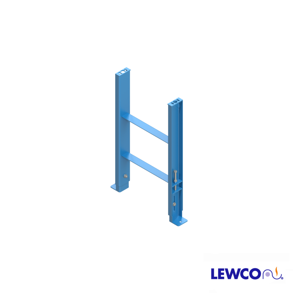 SPJ4 model heavy duty, formed channel, stationary jack bolt style floor supports are easily adjusted and anchored. These supports feature a fixed top plate for applications requiring the movement of heavy loads.