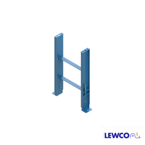 SPJ5 model heavy duty, formed channel, stationary jack bolt style floor supports are easily adjusted and anchored. These supports feature a fixed top plate for applications requiring the movement of heavy loads.