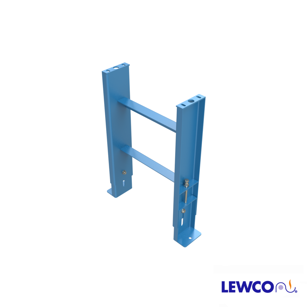 SPJ6 model heavy duty, formed channel, stationary jack bolt style floor supports are easily adjusted and anchored. These supports feature a fixed top plate for applications requiring the movement of heavy loads.