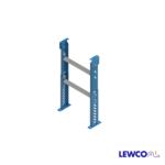 """SPM model medium duty, stationary """"H"""" style for supports are easily adjusted and anchored. These supports feature a top pivot plate for applications requiring the conveyor to be set on an angle."""