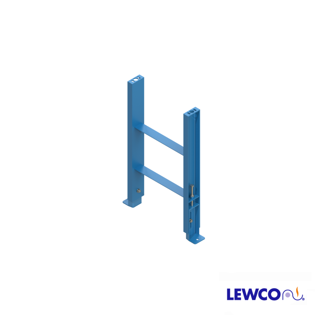 SPSJ4 model heavy duty, structural steel, stationary jack bolt style floor supports are easily adjusted and anchored. These supports feature a fixed top pivot plate for applications requiring the movement of heavy loads.